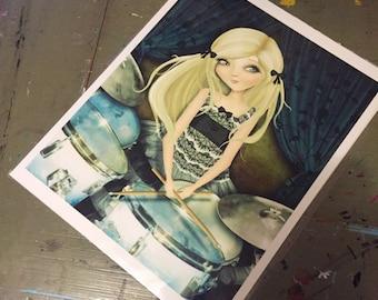 SALE print - 'Simona' - 8x10 Matte Print