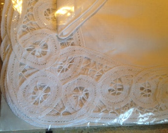 NEW Four Battenburg Lace Placemats and Napkins in the Original Package