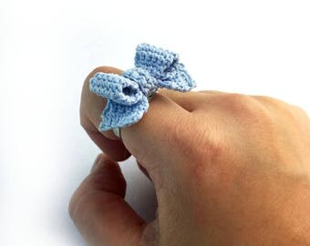 Baby Blue Ribbon Ring
