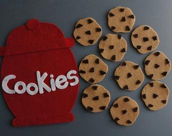 Ten Cookies Felt Set