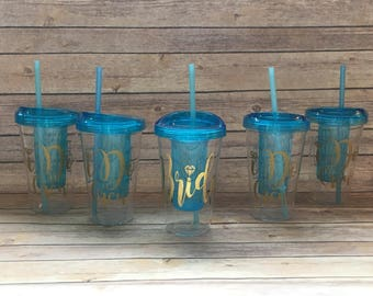 Bride and I do Crew tumblers, wedding and bachelorette party favors