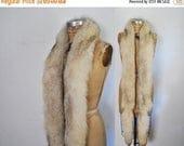 25% OFF Gorgeous Fox Fur Scarf BOA Stole / silver wedding bridal