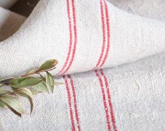 B 820 : Grain Sack antique linen, beautiful BRICK RED, pillow benchcushion 리넨, lin, 39.37 long, wedding, decoration