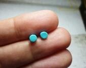 Color Dot Stud Earrings 4mm, Round Stud Earrings