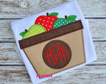 Machine Embroidery Design Embroidery Apple Basket INSTANT DOWNLOAD