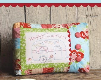 Happy Camper Embroidery Pattern