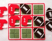 Tic-Tac-Toe Game - Football - Red
