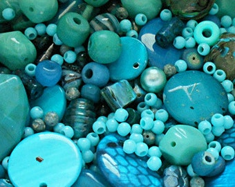 Small Grab Bag - Turquoise Beads