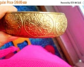 SALE 75%OFF Vintage Brass Bangle Bracelet, McCrory Store CO. Made In India, 1993