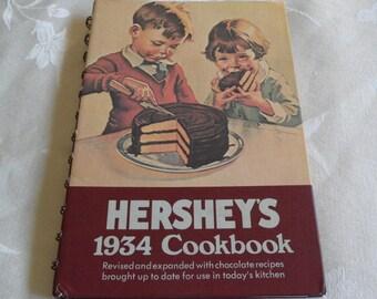 Hersheys 1934 Cookbook Hardcover Spiral Bound 1971