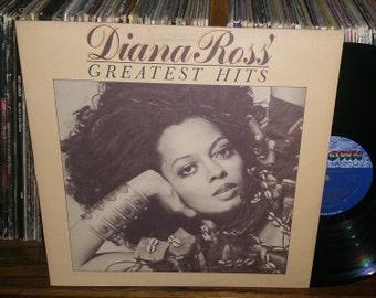 Diana Ross Greatest Hits Vintage Vinyl Record