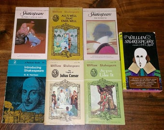 William Shakespeare Vintage Paperback Book Lot Of 7