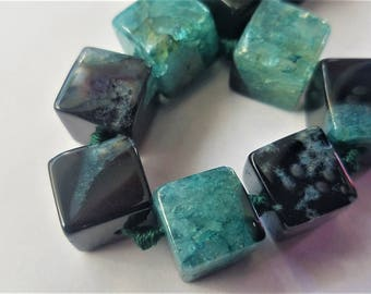 Quartz/ Agate Cube gemstone beads 12mm