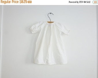 SALE // Vintage White Flannel Baby Gown