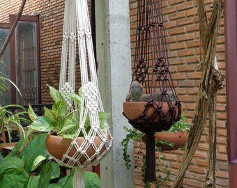 Two pieces of Macrame Plant Hangers in 'Extra - X' set