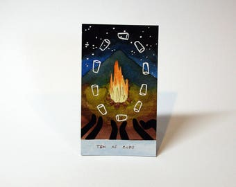 Ten of Cups - Original Watercolor Painting - Tarot Card