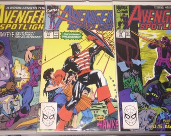3- Marvel Avengers Spotlight Comic Books 30 31 and 33 in Mint Condition