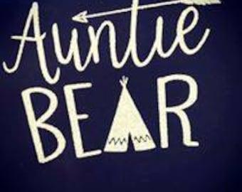 Auntie Bear tee