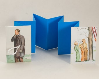 Gift Card, Business Card, Love Note Holder Mini Accordion Book