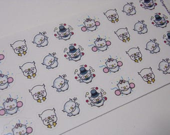 32 Happy Owl Stickers / Great for your Erin Condren Life Planner!