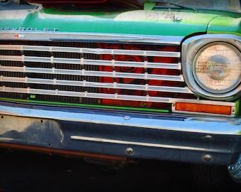 1960s Era Chevrolet Nova -  Classic Car - Chevy - Garage Art - Pop Art - Fine Art Photograph