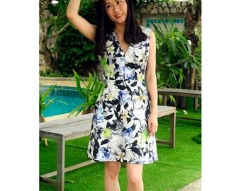 digital printing sleeveless dress/resort/holiday wear