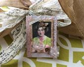Vintage-style Birthday Card - Handmade Vintage Lady Card