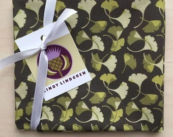 Ginkgo Olive Fabric, Fat Quarter, Spoonflower