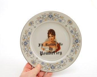 Jane Austen - Pride and Prejudice - Mr. Darcy - I'd rather be in Pemberley - home and living - ceramics and pottery