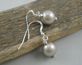 Platinum Pearl Dangles