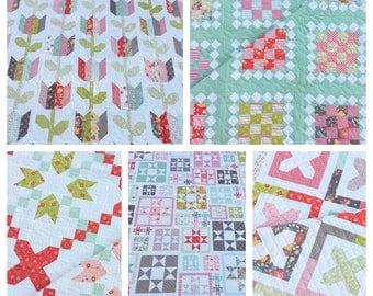 Coriander Quilts Pattern Bundle #1 (Flower Mill Release) PDF VERSION
