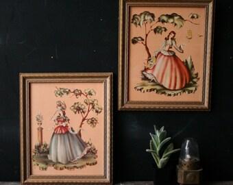 Vintage Print Set Girls Room Vintage Decor Fancy Women City Girl Country Girl Vintage From Nowvintage on Etsy