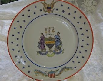 Rare Antique Philadelphia, Pa. Souvenir Plate, Circa 1900, Made by Victoria, Austria - REDuCED