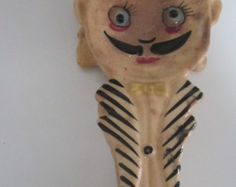 Retro ~ Holt Howard  Spoon Rest ~ Whimiscal ~ Anthropomorphic ~ Reversible  Man one side Lady other-  FREE SHIPPING