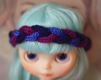 OOAK knitted diadem for Blythe,Pullip and simillar Dolls