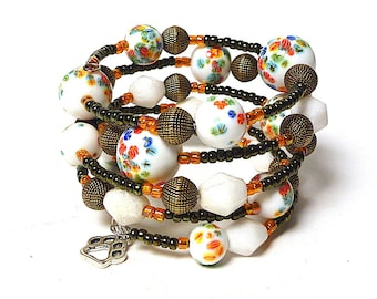 TREASURES IN A TRUNK Coil Beaded Bracelet by Beading Divas Fundraiser
