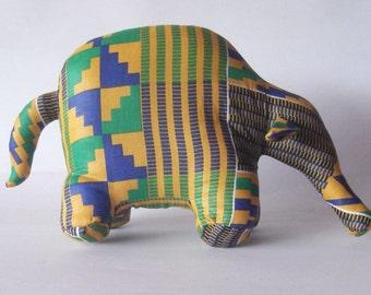 Aardvark anteater stuffed animal Kente wax African print wildlife african theme decor