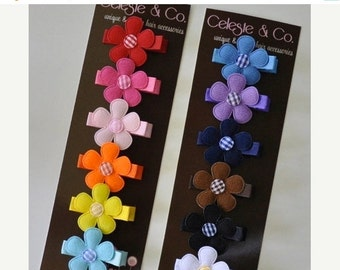 Baby Hair Bows - Infant Hair Clips - Baby Hair Clips - Rainbow - 12-Pack Alligator Clips - Babies, Infants, Toddlers and Girls
