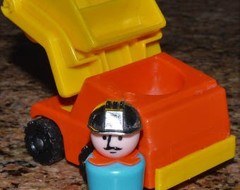 FORK LIFT fisher Price Little People vintage 343 Little Truck Rigs