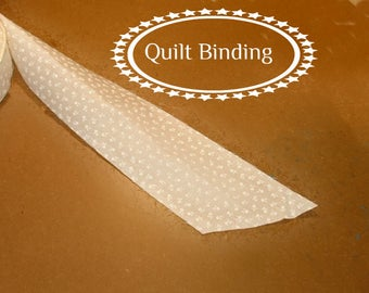 Traditional Quilt Binding -  Cream Tone on Tone Floral
