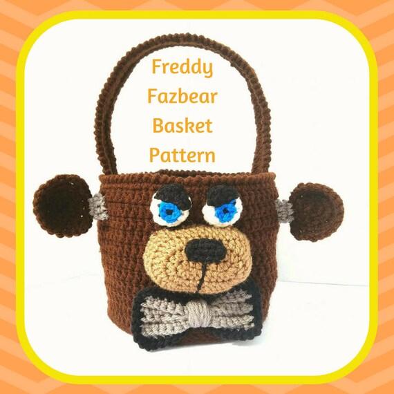 Freddy Fazbear Crochet Pattern, Freddy Fazbear Amigurumi Pattern, FNAF Amigurumi Pattern, FNAF Crochet Pattern, Basket Crochet Pattern
