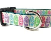 Dog Collar, Surfboards, 1 inch wide, adjustable, quick release, metal buckle, chain, martingale, hybrid, nylon