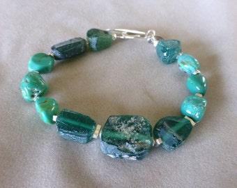 Roman Glass, Roman Glass Bracelet, Ancient Roman Glass Bracelet, Turquoise Bracelet, Gifts for Her