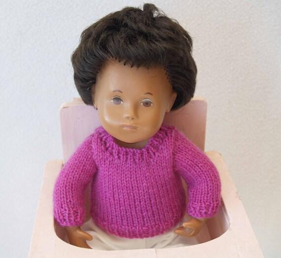 Knitting Pattern Baby Crew Neck Sweater : Sasha 12 13 Baby Doll Crew Neck Sweater Knitting