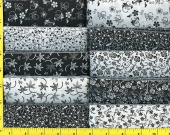 Black and White Jelly Roll 40 - 2 1/2 inch strips - new combination BW1