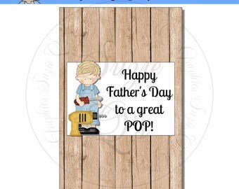 Father's Day Popcorn Wrapper - Digital Printable - Immediate Download