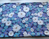 Vintage Destash single print sheet turquoise purple blue