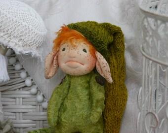 """Ivar 8"""" Teddy Doll Gnome Dwarf Troll Waldorf inspired  by Brusja Natalja Fjodorova"""