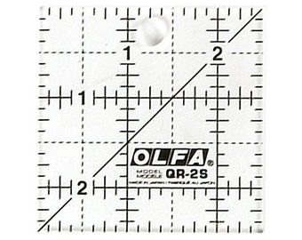 OLFA 2-1/2″ Square Frosted Acrylic Ruler (QR-2S)