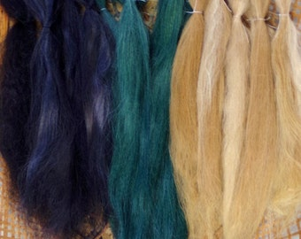Combed Suri AlpacaDoll Hair 0.8 of an ounce 6-8 inches long Mixed Colours